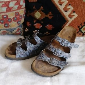 Papillio Birkenstock blue Paisley Sandals